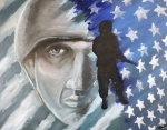 Ptsd Posters - The Face Behind The Soldier Poster by Jeff Stephens