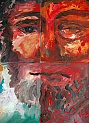 Jesus Art Paintings - The Face of Love by Jun Jamosmos