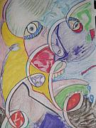 Visage Drawings - The face of many by Reginald Pierre