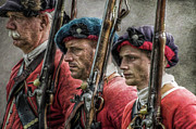 Revolutionary War Digital Art Prints - The Faces of War Print by Randy Steele