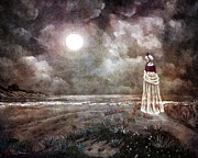 Laura Milnor Iverson Prints - The Fading Memory of Annabel Lee Print by Laura Iverson