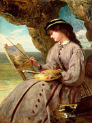 Solomon Paintings - The Fair Amateur by Abraham Solomon