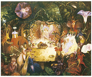 Fairies Framed Prints - The Fairies Banquet Framed Print by John Anster Fitzgerald