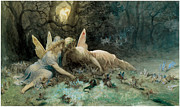 Dore Painting Posters - The Fairies  Poster by Gustave Dore