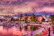 Vancouver Sunset Posters - The Fairmont Empress Hotel  Poster by Matt Dobson