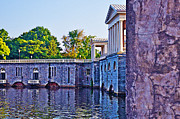 Philadelphia Digital Art Metal Prints - The Fairmount Waterworks in Philadelphia Metal Print by Bill Cannon