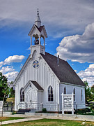 Old Wood Building Photos - The Fairplay Church by Ken Smith