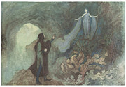 Warwick Painting Prints - The Fairy appearing to the Prince Print by Warwick Goble