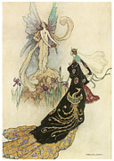 Warwick Painting Prints - The Fairy Book Print by Warwick Goble