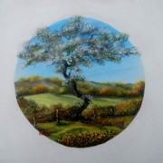 Leprechaun Paintings - The Fairy Tree by Avril Brand