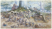 Fairies Framed Prints - The Fairy Tree Framed Print by Richard Doyle