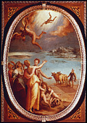Flight Painting Framed Prints - The Fall Of Icarus Framed Print by Granger