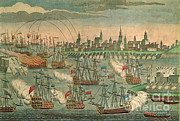 The Fall Of Louisbourg 1758 Print by Photo Researchers