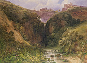 Architecture Paintings - The Falls of Tivoli by William Wyld