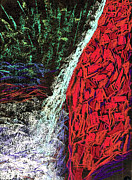 Finance Painting Originals - The Falls by Seshadri Sreenivasan