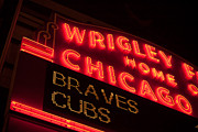 Friendly Confines Photos - The Famous Wrigley Field Sign by Anthony Doudt