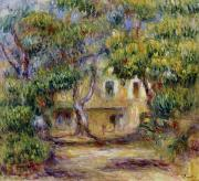 The Trees Framed Prints - The Farm at Les Collettes Framed Print by Pierre Auguste Renoir