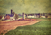 Amish Prints - The Farm In Lancaster Print by Kathy Jennings