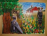 Dogs Mixed Media - The Farm by Lisa Piper Stegeman