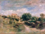 Renoir; Pierre Auguste (1841-1919) Prints - The Farm Print by Renoir