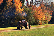Rural Landscapes Photo Metal Prints - The Farmer Metal Print by Benanne Stiens