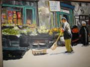 Groceries Painting Posters - The Farmers Market Poster by Les Smith