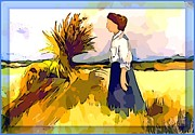 Wife Digital Art Framed Prints - The Farmers Wife Framed Print by Mindy Newman