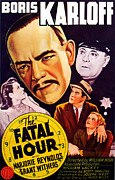 Police Art Posters - The Fatal Hour, Upper Left Boris Poster by Everett