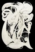 Male Nudes Drawings Prints - The Faun Print by Roz McQuillan