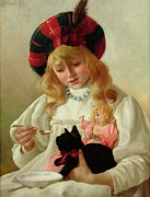 Doll Paintings - The Favorites by CH Blair