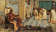 Court Metal Prints - The favourites of Emperor Honorius Metal Print by John William Waterhouse