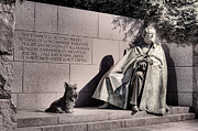 Scottish Terrier Framed Prints - The FDR Memorial Framed Print by JC Findley