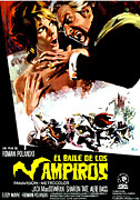 Spanish Poster Art Posters - The Fearless Vampire Killers, Aka Dance Poster by Everett