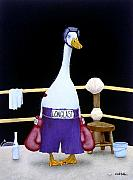 Boxing Paintings - The Featherweight... by Will Bullas