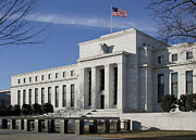 Government Building Posters - The Federal Reserve in Washington DC Poster by Brendan Reals