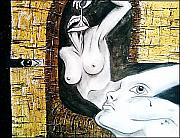 Monochrome Mixed Media Originals - The Feminine Revolution by Paulo Zerbato