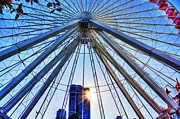 The Ferris Wheel At Navy Pier Print by Dan Stone