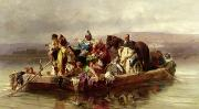 Ferryman Prints - The Ferry  Print by Johann Till