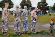 Greeting Cards Paintings - The Few The Proud by Deb Putnam