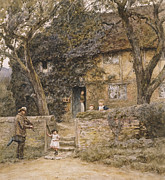 Arts Framed Prints - The Fiddler Framed Print by Helen Allingham
