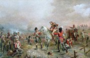 Bayonet Painting Prints - The Field at Waterloo Print by Robert Alexander Hillingford