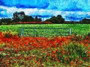 Poppies Field Digital Art - The Fields of Summer  by Steve Taylor