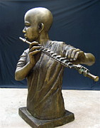 Bronze Sculpture Originals - The Fifer by Curtis James