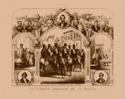 Black History Drawings Framed Prints - The Fifteenth Amendment And Its Results Framed Print by War Is Hell Store