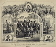 Race Discrimination Prints - The Fifteenth Amendment Banning Voting Print by Everett