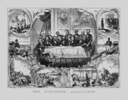 States Drawings Prints - The Fifteenth Amendment  Print by War Is Hell Store