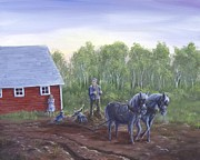 Farm Team Paintings - The Fifth Labour by Kent Nicklin