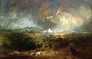 Romanticist Framed Prints - The Fifth Plague of Egypt Framed Print by Joseph Mallord William Turner