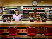 Fast Food Paintings - The Fifties Diner by Doug Strickland