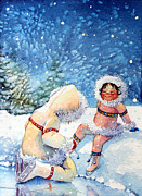 Childrens Book Illustrator Prints - The Figure Skater 1 Print by Hanne Lore Koehler